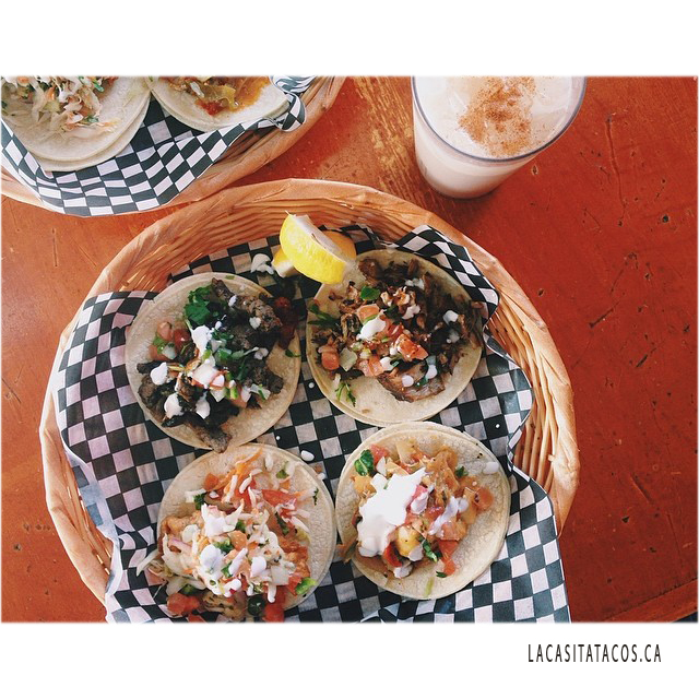 West End Vancouver: Tacos And A Glass Of Horchata At La Casita Tacos In West