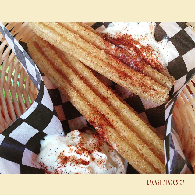 I LOVE CHURROS At La Casita Tacos In West End Vancouver BC
