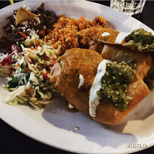 Chimichangas At La Casita In Vancouver BC